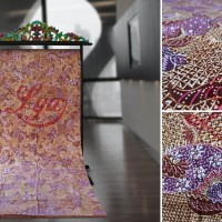 Kain Batik Tulis Madura Sekarjagat Coklat Lavender LB 399