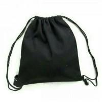 Jual Draw string bag tas ransel punggung serut tali sport kanvas polos Murah