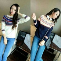 Sweater Lila Sweater Rajut