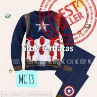 Jual Pajamas Anak / Setelan Baju Tidur Anak MC Kids : Captain America Murah
