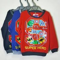 Sweater Jaket Super Hero 3-5 tahun