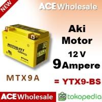 Aki kering MTX9A Motobatt, 9 Ampere / motor u/ Yuasa YTX9-BS