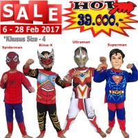 harga Baju Anak Kostum Topeng Superhero Spiderman Bima-X Ultraman Superman Tokopedia.com