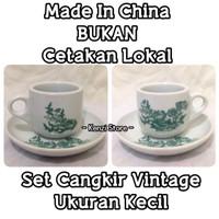 Gelas Mug Cangkir Kopi Desain Vintage