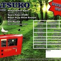 Genset MatsukoHonda bahan bakar gas