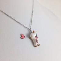 Jual kalung unicorn monel murah clay little pony liontin korea import anak Murah