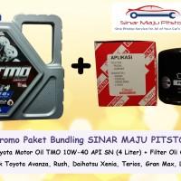 harga Paket Bundling Oli Mobil TMO 10W-40 & Filter Oli Avanza, Xenia, Rush Tokopedia.com