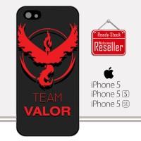 Video Game Pokemon Go Team Valor M004 iPhone 5, 5S, SE Casing Premium