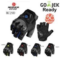 SCOYCO MC29D gloves sarung tangan motor Halffinger touring / harian