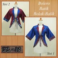 Jual Bolero Batik Bolak Balik/ Blazer Batik/ Outerwear Cardigan Batik/ A5 Murah