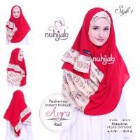 Hijab 2 Face Praktis 1 Jilbab 2 Gaya Pasmina Instan Nuhijab PIN AYRA