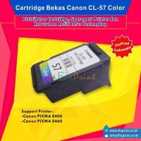 Jual Cartridge Bekas Canon CL-57 Color Printer E400