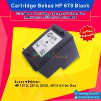 Cartridge Bekas HP 678 Black, Printer HP 1515, 2515, 2545 All-in-One P