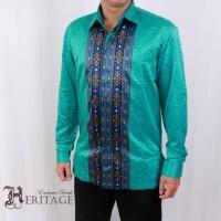 Kemeja Batik Heritage Exclusive Linen Songket Toska