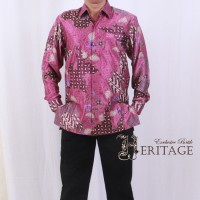 harga Batik Heritage Exclusive Linen Bunga Jagad Ungu Tokopedia.com