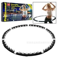 Pelangsing Perut Pembakar Lemak Hula Hoop Magnet Pijat Alat Fitness