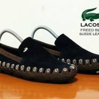 Sepatu Slip On Pria Lacoste Slop Freed Black