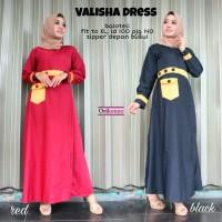 Dress Muslim Wanita Gamis Maxi Long Dress VALISHA DRESS