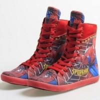 Sepatu anak boot superhero spiderman keren original murah