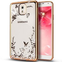 Silicone Flower Samsung Galaxy Note 3 n900 soft back case cover TPU