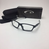 Frame Kacamata Minus Oakley Crosslink Pria Hitam Abu