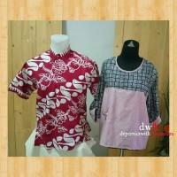 Kemeja Paran barong merah dan Casual Stripe Batik bordir