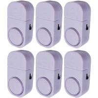 Paket 6 Buah Alarm Pintu Anti Maling Kecil - Putih (Door Entry Alarm)