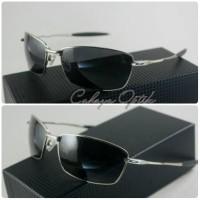 frame kacamata oakley polarised Whisker Squared silver black