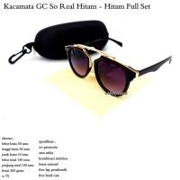 kacamata unisex GC so real hitam - hitam fullset