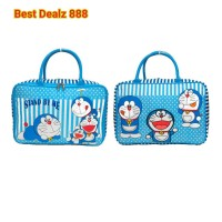 Jual Tas Travel Bag Koper Kanvas Renang Anak Dewasa Doraemon LimitedEdition Murah