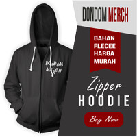 Zipper Hoodie Sablon Polyflex by Dondom Merch Murah