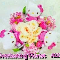 Jual Bucket Hello Kitty ( A128 ) Buket Bunga Boneka Bouquet Wedding Engaged Murah