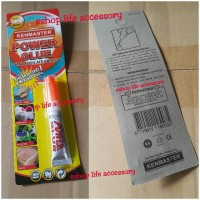 lem power glue kenmaster besi kayu kramik plastik/super korea alteco