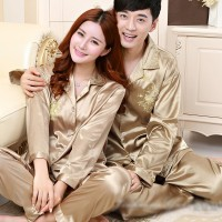 Aneka model piyama couple satin impor baju tidur couple satin PYS-1