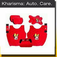 Jual (Ready) Car Set Sandaran Sarung Jok Karakter Kartun Minnie Mouse 5 in Murah
