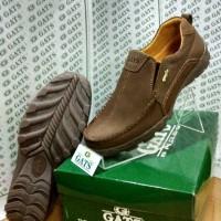 Sepatu Merk Gats Ori Cowok Santai Slop Kulit Indonesia Online BRWN TO3