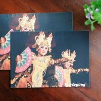 Tari Legong Bali KARTU POS SENI TRADISI INDONESIA UNIK NUSANTARA