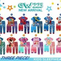 set baju anak| Batman|minnie|Baju anak isi 3pcs