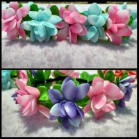 Jual flower crown / bandana bunga / bando bunga Murah