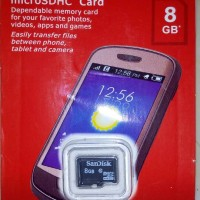 Sandisk 8 GB memory card mmc micro sd 8gb