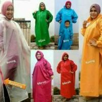 Jual Jas hujan gamis / mantel muslimah polos Murah