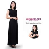 Mamalooks Gamis Kutung Menyusui Hitam Size XXL