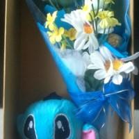 Jual Parsel bunga, boneka Stitch dan coklat Ferrero Murah