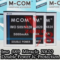 Baterai Imo S89 Miracle N820 Rakkipanda Double Power Protection