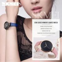 Jual jam tangan wanita/cewek Skmei original anti air tali kulit MDL ac alba Murah