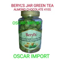 BERYL'S JAR GREEN TEA ALMOND CHOCOLATE 410G