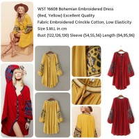 harga Bohemian Embroidered Dress (RED,YELLOW) S,M,L - 16608 Tokopedia.com