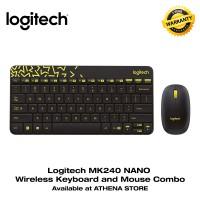 Jual LOGITECH MK240 NANO Wireless Keyboard and Mouse Combo Original Black Murah