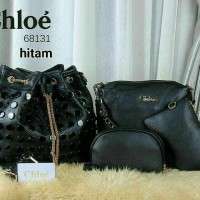 Tas Chloe 68131 Black - import branded semi premium
