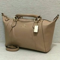 JUAL COACH F58410 COLETTE LEATHER SATCHEL (BEECHWOOD)